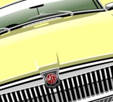 MGB chrome bumper pale yellow Sticker