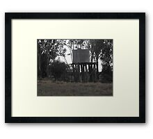 Water Tank on Rickety Stand Framed Print