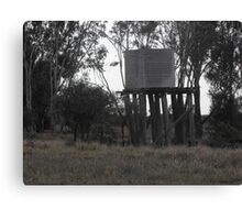 Water Tank on Rickety Stand Canvas Print