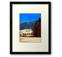 Bohemian forest winter scenery | landscape photography Framed Print