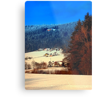 Bohemian forest winter scenery | landscape photography Metal Print