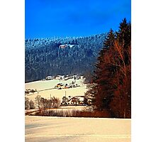 Bohemian forest winter scenery | landscape photography Photographic Print