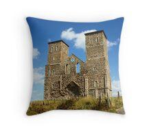 Reculver Castle , Kent Throw Pillow