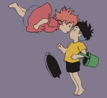 Ponyo on the Cliff by the Sea Kids Tee