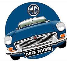 MGB chrome bumper blue by car2oonz