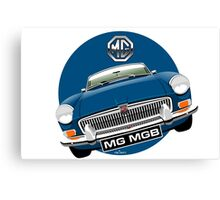 MGB chrome bumper blue Canvas Print