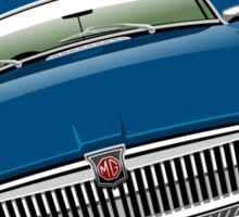 MGB chrome bumper blue Sticker