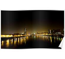 River Thames - At Night Poster