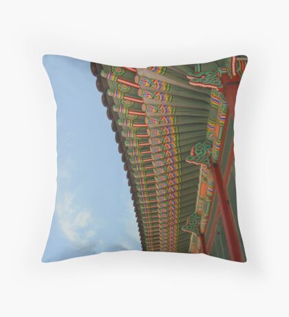 Colours of South Korea Throw Pillow