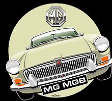 MGB chrome bumper Old English White by car2oonz