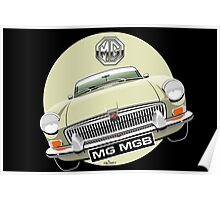 MGB chrome bumper Old English White Poster