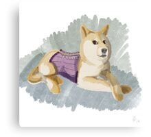 Doge in a Corset Canvas Print