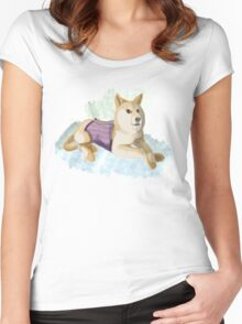 Doge in a Corset Women's Fitted Scoop T-Shirt