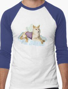 Doge in a Corset Men's Baseball ¾ T-Shirt