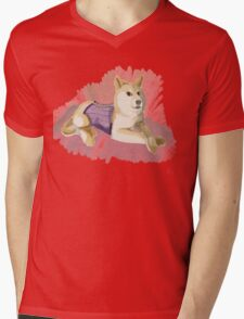 Doge in a Corset Mens V-Neck T-Shirt