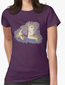 Doge in a Corset Womens Fitted T-Shirt
