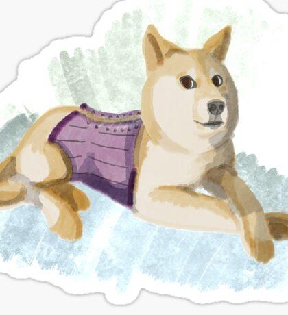 Doge in a Corset Sticker