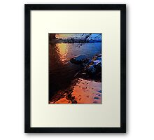 Winter evening down by the river | landscape photography Framed Print