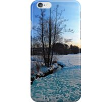 Trees and stream in winter wonderland | landscape photography iPhone Case/Skin