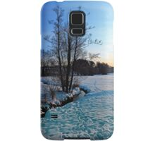 Trees and stream in winter wonderland | landscape photography Samsung Galaxy Case/Skin