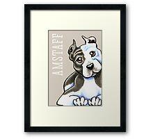 Amstaff Lean on Me {Type} Framed Print