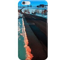 Long country road in winter wonderland | landscape photography iPhone Case/Skin