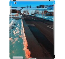 Long country road in winter wonderland | landscape photography iPad Case/Skin