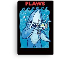 Flaws Team Left Shark Parody Canvas Print