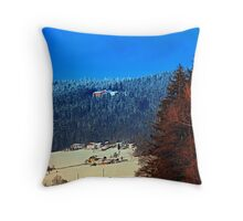 Bohemian forest winter scenery | landscape photography Throw Pillow