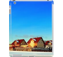 Village and winter sun reflections | landscape photography iPad Case/Skin