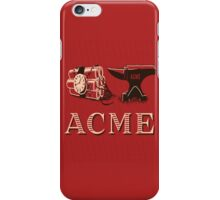 Classic ACME logo iPhone Case/Skin