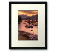 A New Years Sunrise Framed Print