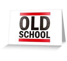OLD SCHOOL Black Greeting Card