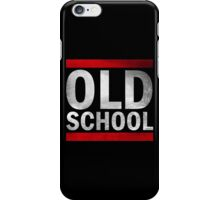OLD SCHOOL White iPhone Case/Skin