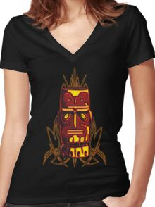 Kon Tiki Women's Fitted V-Neck T-Shirt