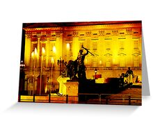 Buckingham Palace lightshow Greeting Card
