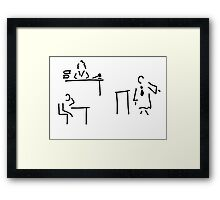 lawyer judge public prosecutor court Framed Print