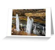 Icy Cave Greeting Card