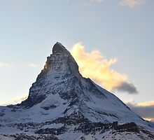 Matterhorn at Sunset 2 by Rosy Kueng