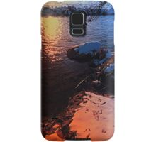 Winter evening down by the river | landscape photography Samsung Galaxy Case/Skin