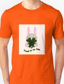 Cute St. Patricks Day Bunny Proud to be Irish T-Shirt