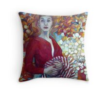 there's a storm brewing Throw Pillow
