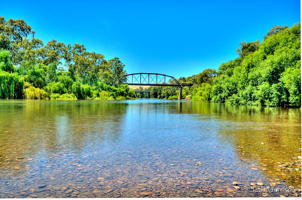 A River Runs Through It - Gundagai - The HDR Experience by Philip Johnson