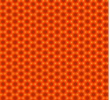 Golden Orange Honeycomb Hexagon Pattern by Shelley Neff