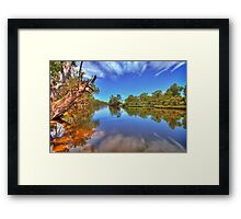 Swan River reflections Framed Print