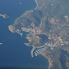 Aerial view of Elba Coast in Italy by Nancy Huenergardt