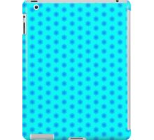 Icy Aqua and Blue Snowflake Pattern iPad Case/Skin
