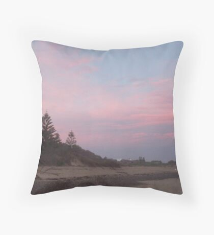 Sunset Old Bar 1 Throw Pillow