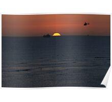 Sunset Waikiki Poster