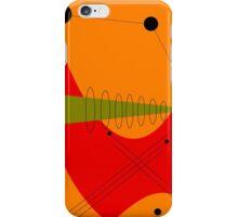 Mid-Century Modern Abstract in Orange iPhone Case/Skin